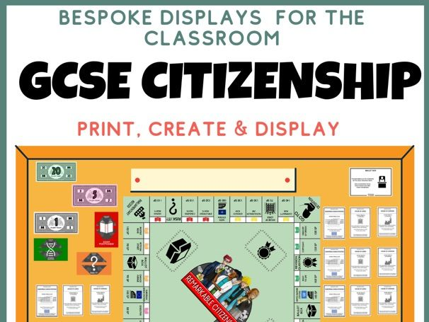 GCSE Citizenship Display Revision Wall