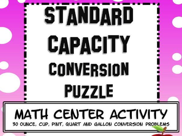 Standard Capacity Conversions