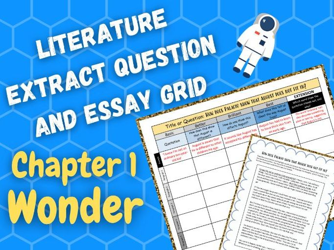 Wonder | Ordinary | Literature Extract Question and Essay Response Plan