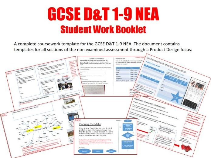 GCSE D&T 1-9 NEA Coursework Student Work Booklet