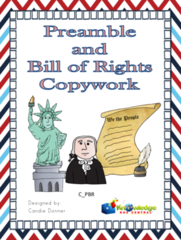 Preamble & Bill of Rights to the Constitution Copywork Notebook