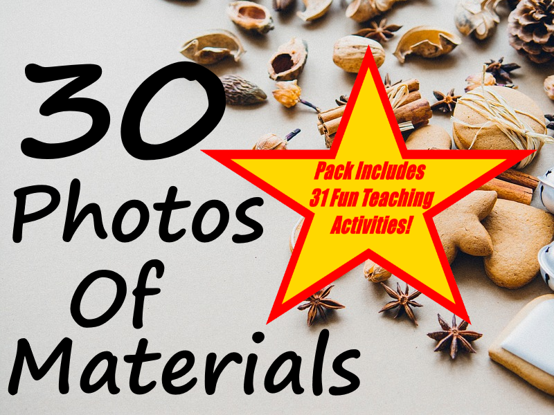 30 Texture Photo Presentations + 31 Fun Teaching Activities For These Cards