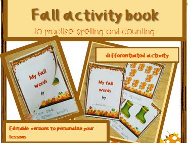 Autumn activity for infants BUNDLE ESL
