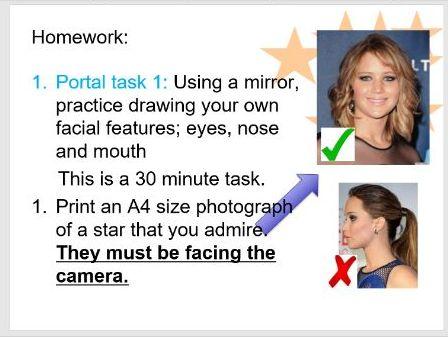 Portraits Art Lesson 2