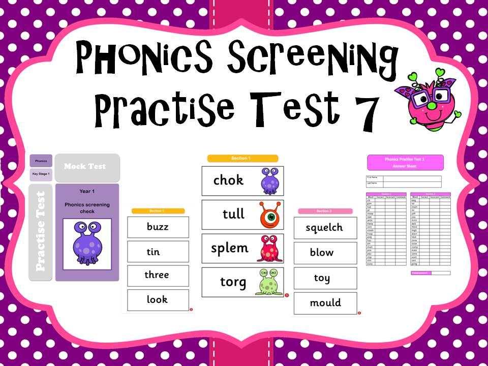 Phonics screening practise test 7