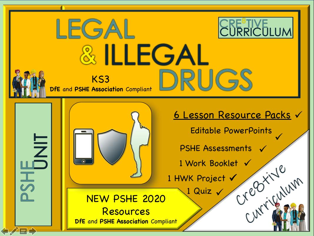 Legal + Illegal KS3 Drugs Unit PSHE