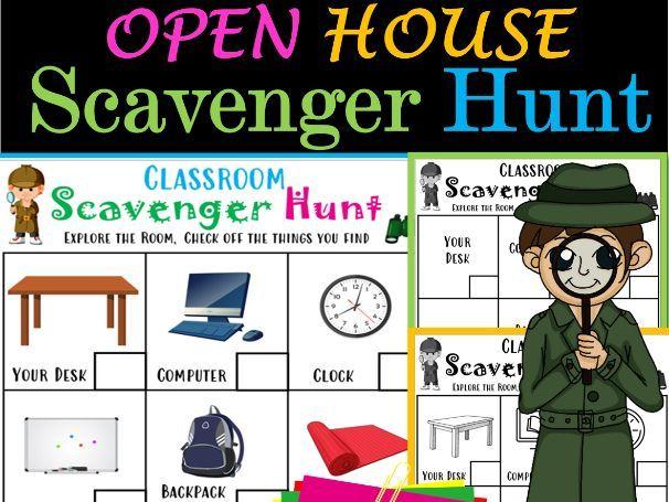 Meet the Teacher Night and Open House Scavenger Hunt - Editable