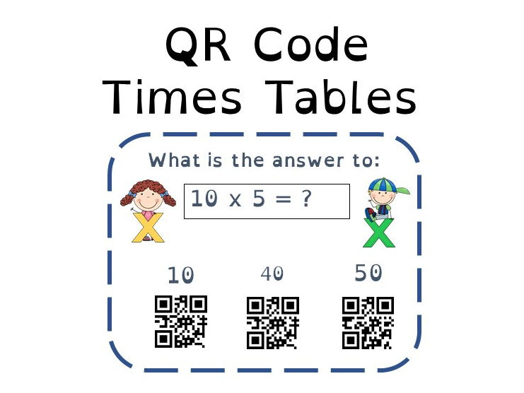 Multiplication Times Tables QR Code