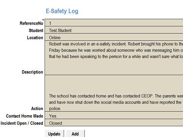 E-Safety Log