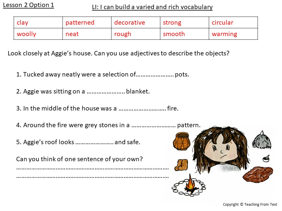 Year 3 Stone Age English Scheme of Work WEEK 1