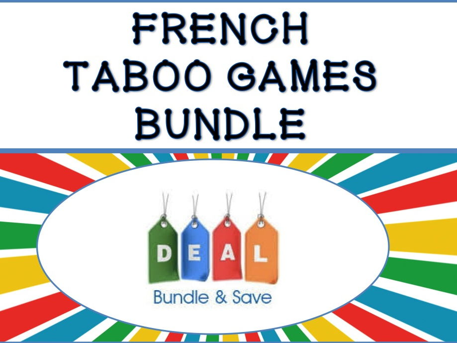 French Taboo Speaking Games Bundle