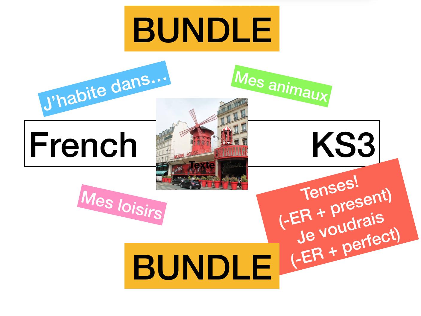 KS3 - French Allez 1 Autour de moi (3.1 -3.2 -3.3 - 3.4)