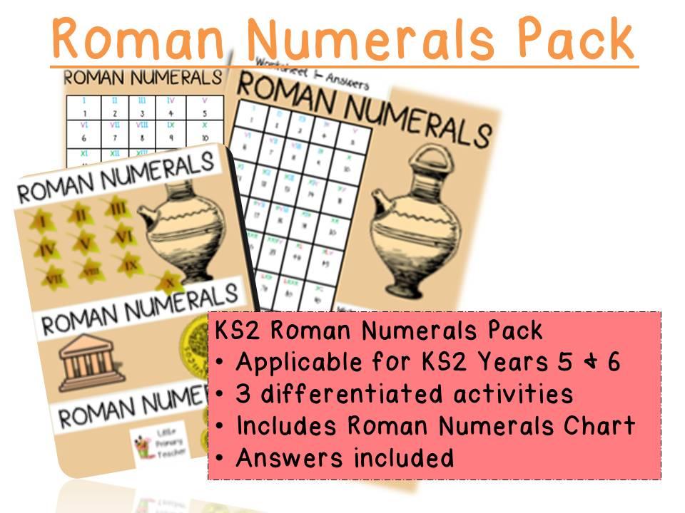Roman Numerals KS2 Pack