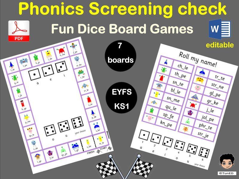 Phonics screening check games