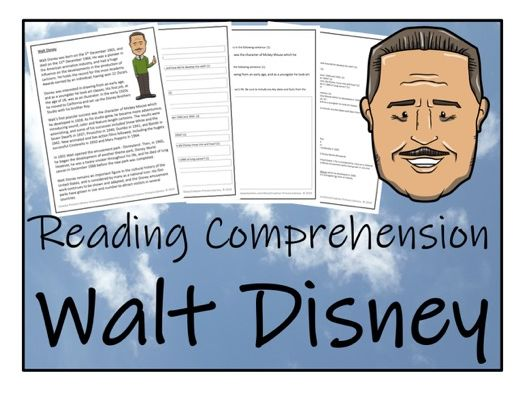 UKS2 Literacy - Walt Disney Reading Comprehension Activity