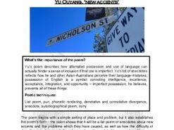 Close reading notes: analysis of Yu Ouyang, 'New Accents'