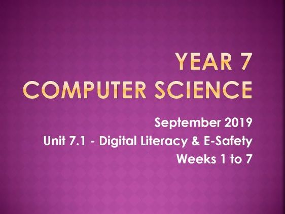 Computer Science: Digital Literacy [L2]