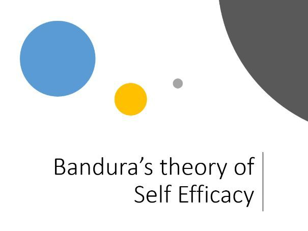 Bandura's Theory Of Self-Efficacy