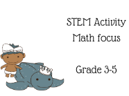 STEM Math activity for plastic water bottle usage at school