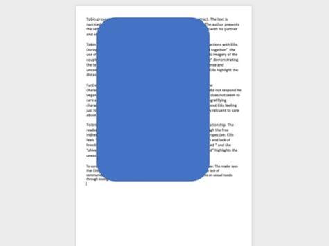 unseen prose essay A level AQA - English literature