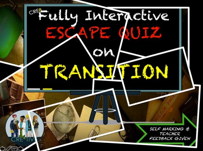 Y6 Transition Escape Quiz