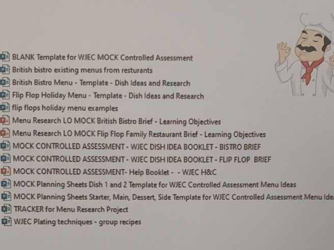 WJEC Hospitality and Catering Level 1/2 MOCK CA Projects  x14 Very Useful/Timing Saving Resources