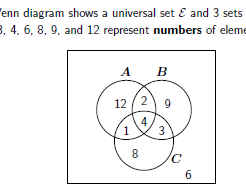 Venn diagrams worksheet no 2 (with solutions)