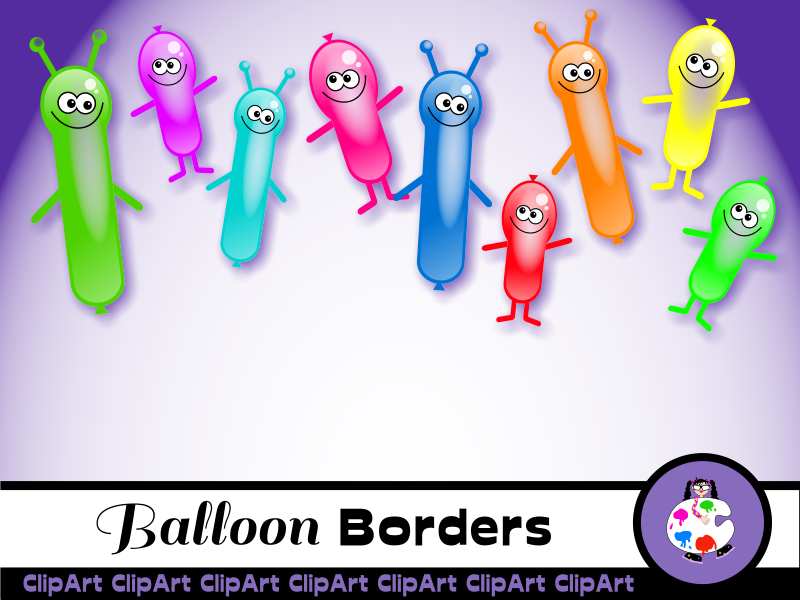 Birthday Party Balloon Borders