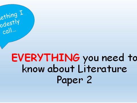 EVERYTHING you need to know about AQA Literature paper 2