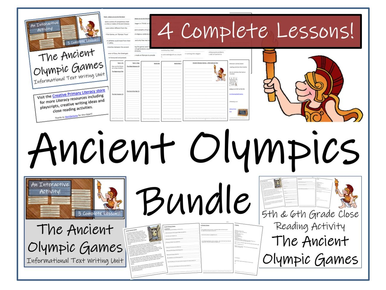 UKS2 History - Bundle of Ancient Olympic Games Activities