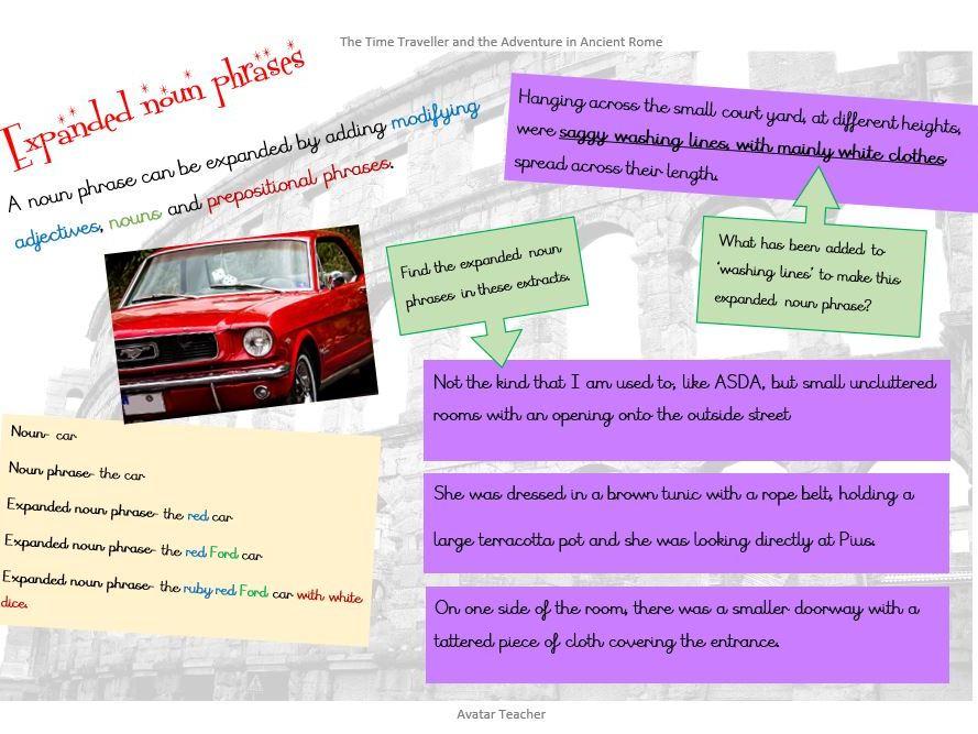 Expanded noun phrase information mat