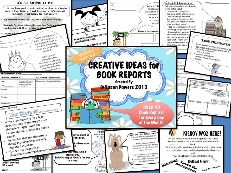 Creative & Fun  Book Reports for Reading Comprehension
