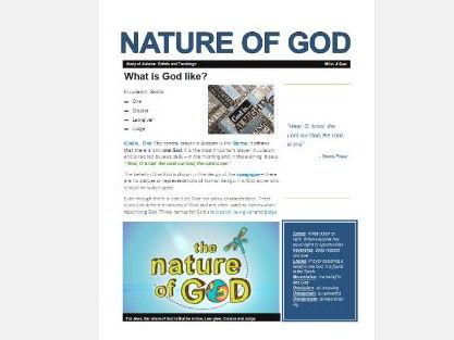 WJEC Eduqas Judaism the Nature of God Exam Booklet