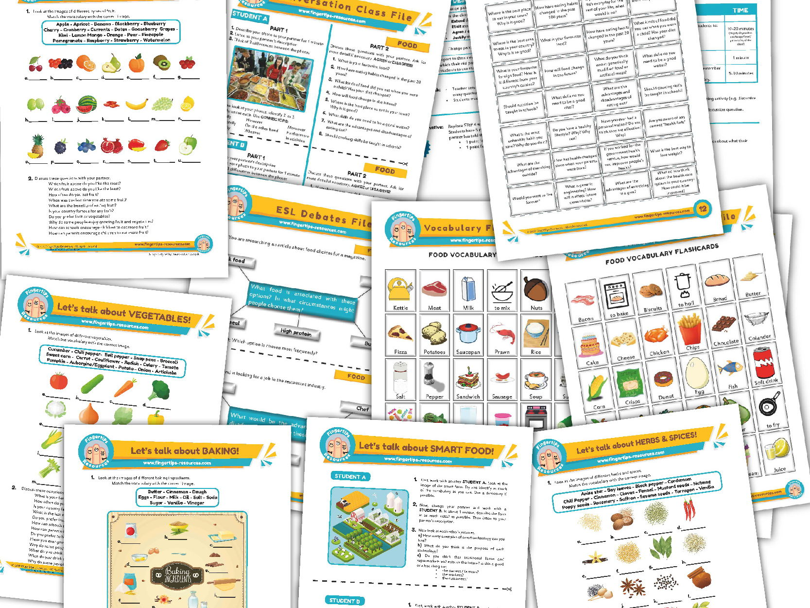 Food & Drink Unit - ESL Activity Bundle