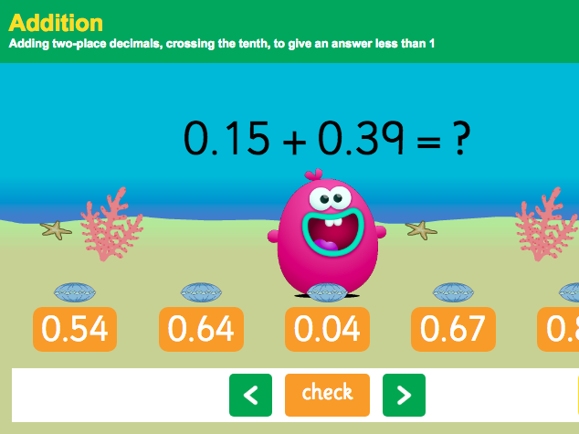 Addition with Decimals: Hundredths - Interactive Game 3 - KS2 Number