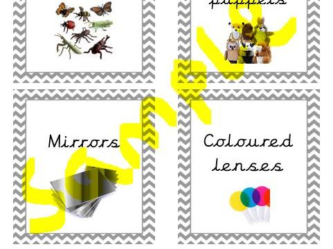EYFS Science Station Provision Labels