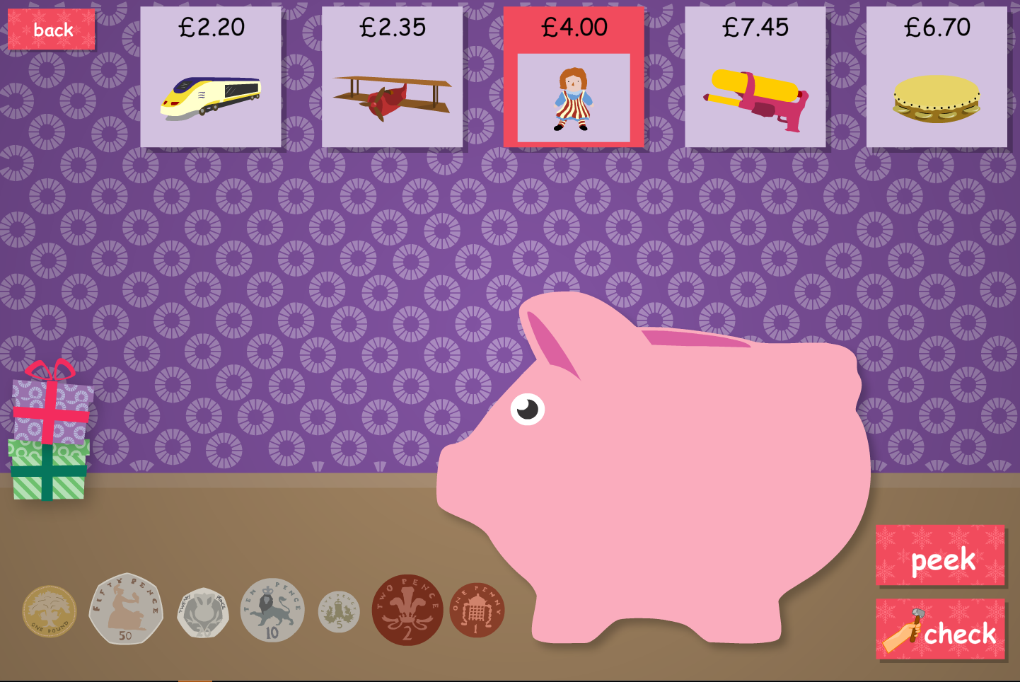 Piggy Bank Saver Interactive Game - Christmas KS1/KS2