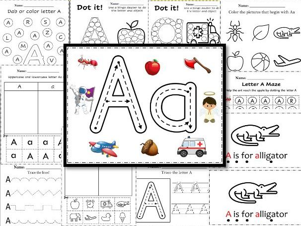 Alphabet Letter of the Week A Activities – Alphabet Printable