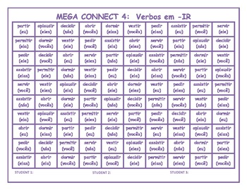 Verbos em IR (IR verbs in Portuguese) Mega Connect 4 game