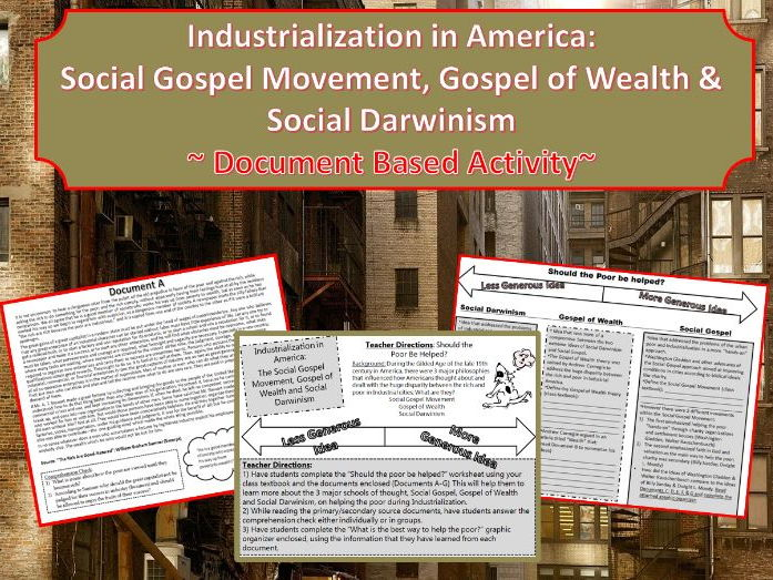 Learningisapassions shop teaching resources tes us industrialization social gospelgospel of wealth social darwinism dbq activity fandeluxe Choice Image