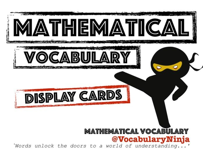 Mathematical Vocabulary Display Pack