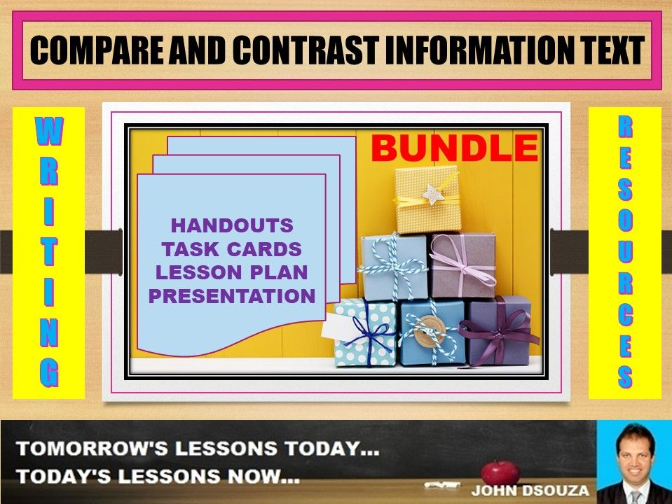 COMPARE AND CONTRAST INFORMATION TEXT BUNDLE