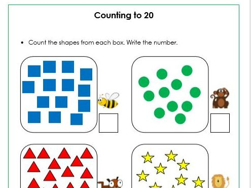Numbers - Counting  to and across 100