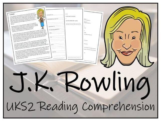 UKS2 J.K Rowling Reading Comprehension Activity
