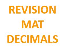 Revision Mat - Decimals