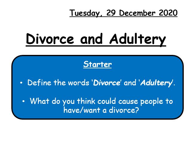 Divorce & Adultery GCSE