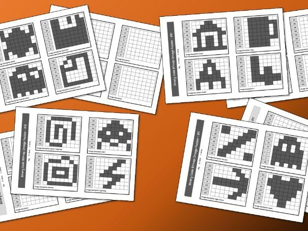 Binary Code Icon Worksheets (8 x Worksheets)