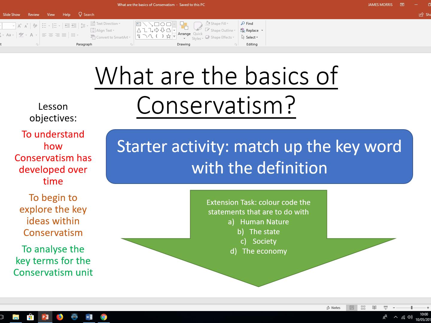 Conservatism - Edexcel