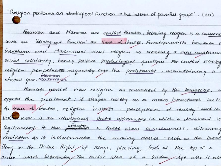 Full Mark A-level Sociology Essay Bundle (Beliefs)