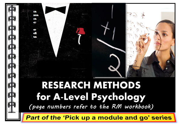 A-Level Psychology: RESEARCH METHODS, PPT DISPLAY & WORKBOOK (Suitable for all examination boards)